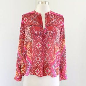 Cynthia Vincent Made in Kind Medallion Print Top